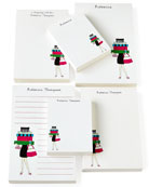 Shopping Girl Notepad Set