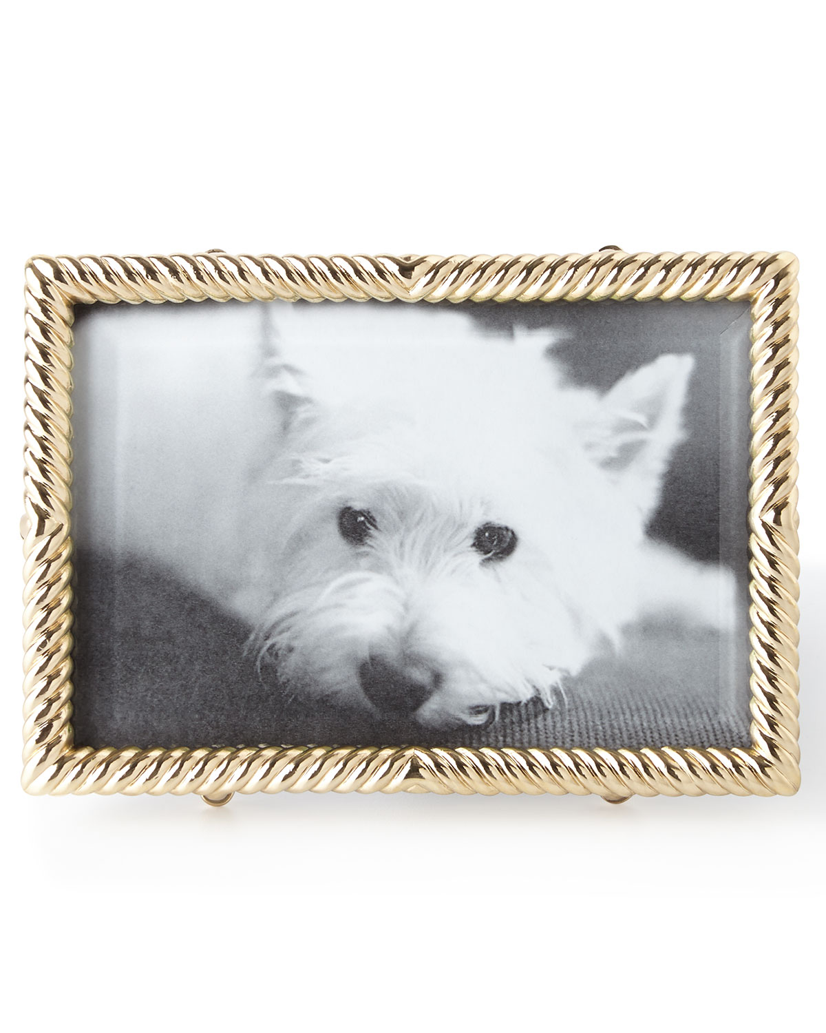 "L'objet Picture frames GOLD DECO TWIST 4"" X 6"" PICTURE FRAME"