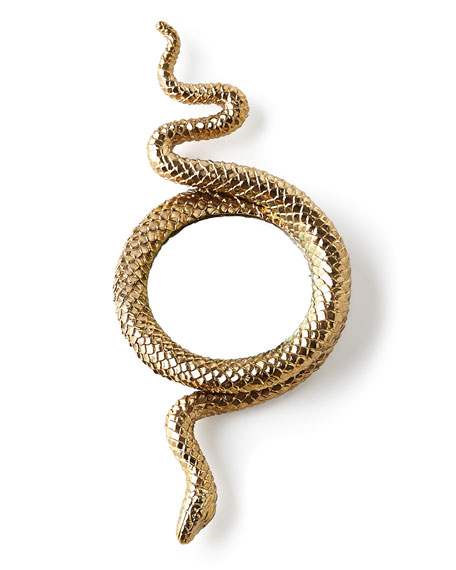 L'Objet Snake Large Gold-Plated Magnifying Glass