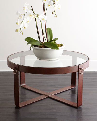 Lancaster Leather Coffee Table
