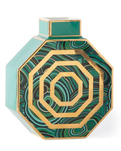 Malachite Octagonal Vase