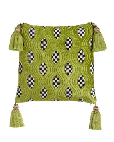 Chartreuse Cutaway Pillow