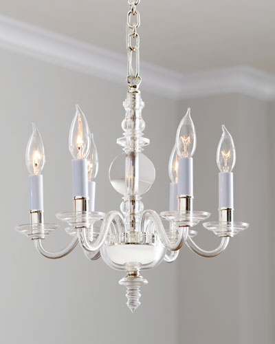 George II Mini 6-Light Polished-Nickel Chandelier