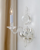 Chapman & Myers George II Polished-Nickel Single Sconce