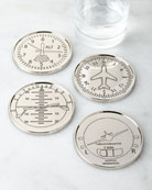 Godinger Four Airplane Coasters