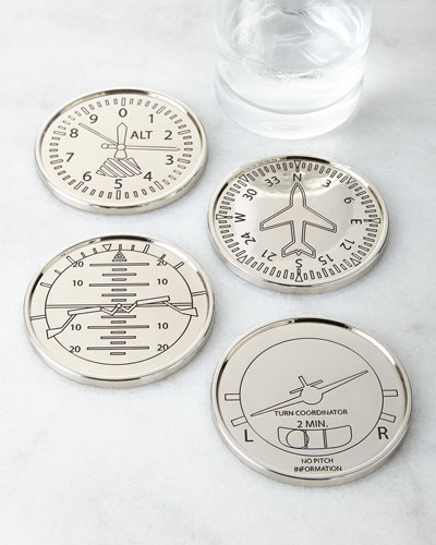 Four Airplane Coasters