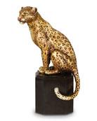 Sitting Leopard Figurine