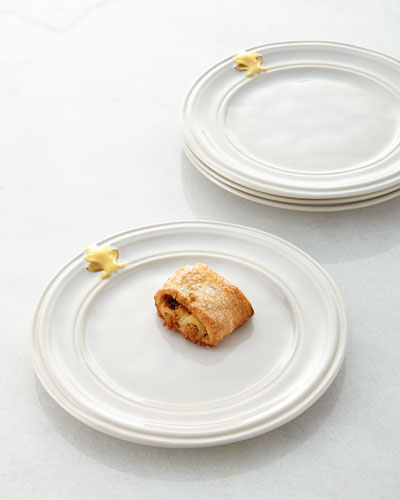 Acanthus Cocktail Plates, Set of 4