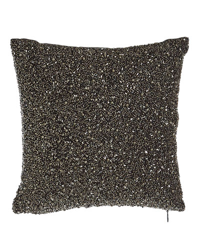 Beaded Charcoal Pillow, 10