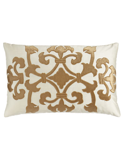 Florence Ivory/Gold Angie Pillow, 14