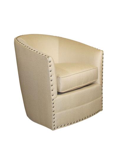 Bryn St. Clair Gold Swivel Chair