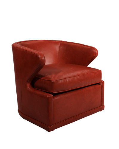 Magnificent Red Leather Swivel Chair Neiman Marcus Creativecarmelina Interior Chair Design Creativecarmelinacom