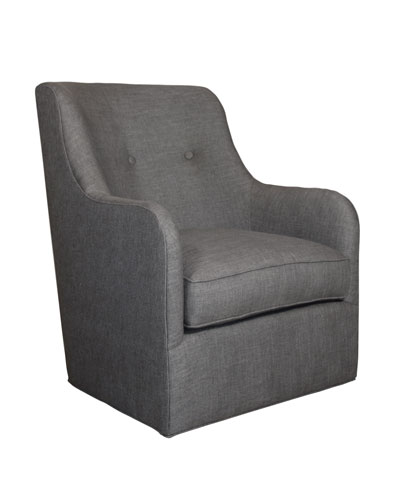 Cali St. Clair Charcoal Tweed Swivel Chair