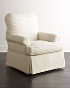 Lynn St. Clair Oyster-Print Swivel Chair