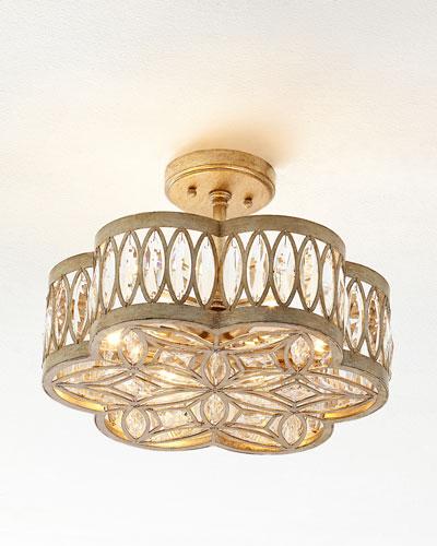 Diamante Six-Light Semi-Flush Ceiling Light
