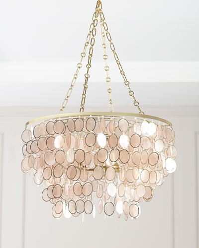 Aurora 3-Light Silvery Chandelier