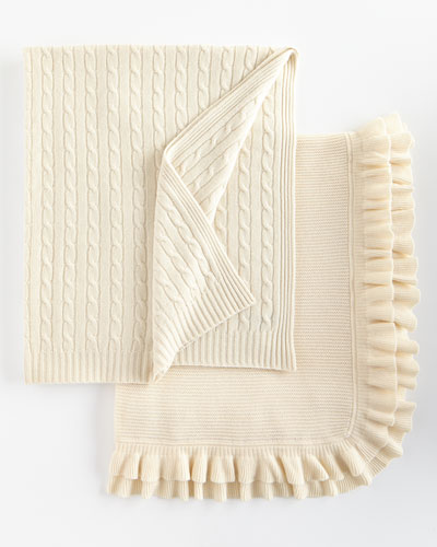 Cabled Cashmere Throw