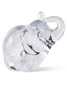 Glass Elephant Sculpture