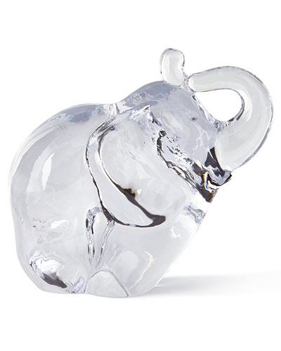 Glass Elephant Sculpture
