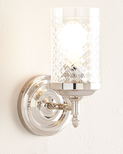 Lita Polished-Nickel Single Sconce