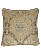"""Marquis Reversible Floral Pillow with Cording, 20""""Sq."""