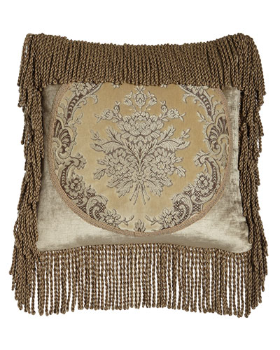 Marquis Framed Pillow with Bullion Fringe, 18