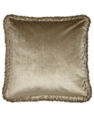 European Marquis Reversible Velvet Sham with Ruched Welt