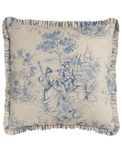 Toile Pillow, 20
