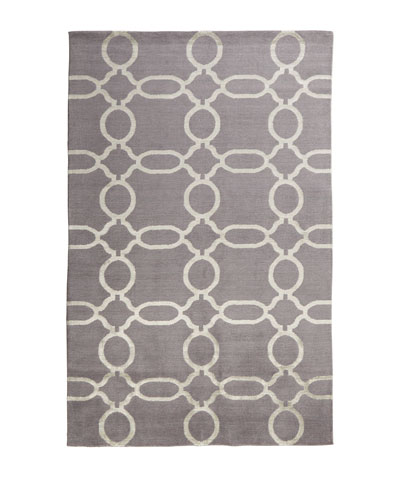 Gray Links Rug, 8' x 10'