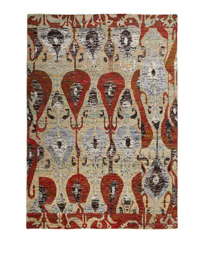 Poppy Silk Rug, 4' x 6'