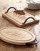 Medium Oval Personalized Cutting Board