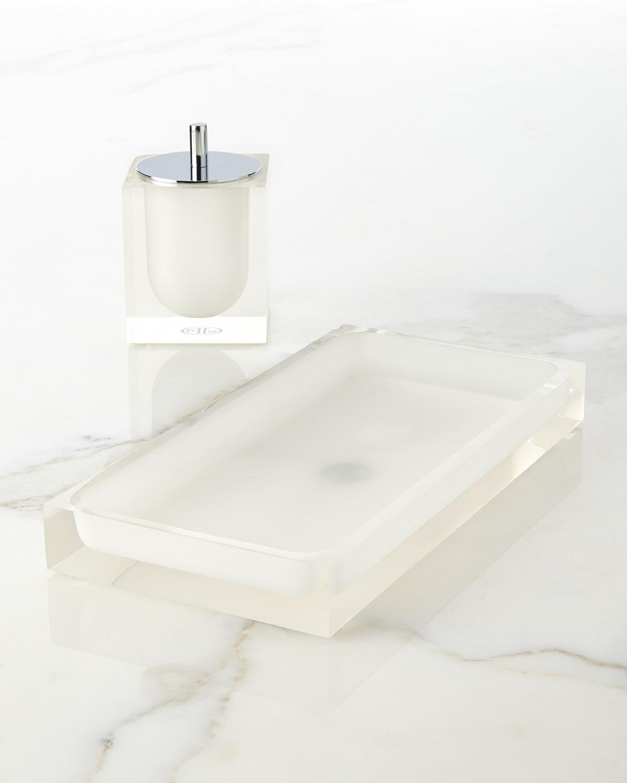 White Hollywood Bath Tray