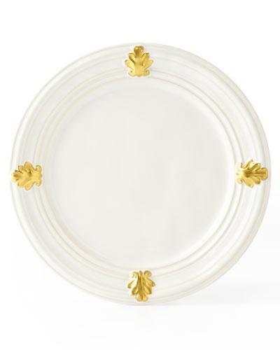 Acanthus Gold Leaf Salad Plate