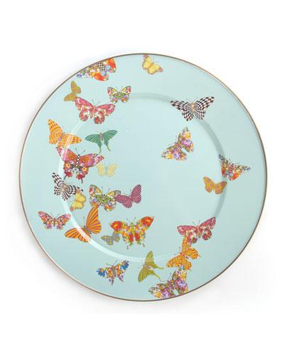 Sky Butterfly Garden Serving Platter