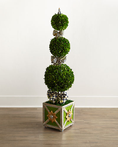 Courtly Check Triple-Tier Topiary