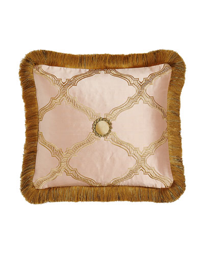 Versailles Reversible Pillow with Fringe, 15