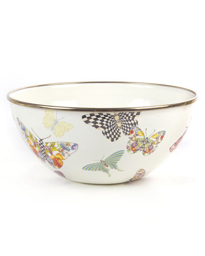 White Butterfly Garden Small Bowl