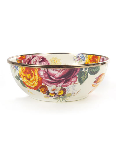 Flower Market White Everyday Bowl