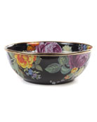 MacKenzie-Childs Flower Market Black Everyday Bowl