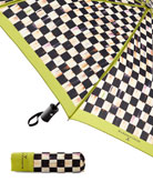 MacKenzie-Childs Courtly Check Travel Umbrella