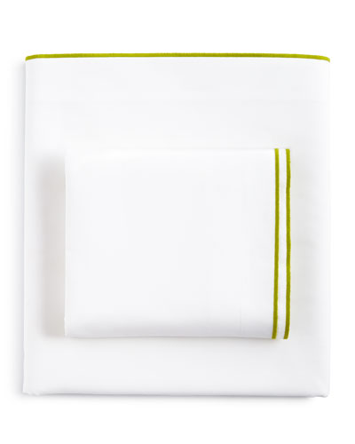 Astor Moss  King 400TC White Fitted Sheet