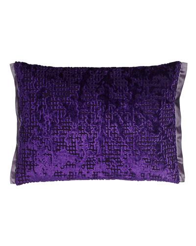 Violet Pixelated Velvet Pillow, 12