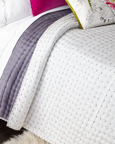 King Reversible Silk Quilt