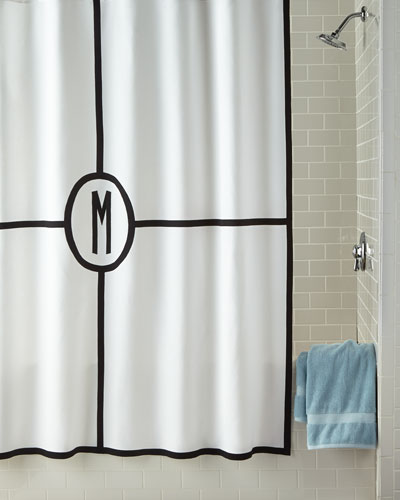 Parterre Monogrammed Shower Curtain