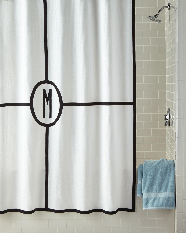 Parterre Monogrammed Shower Curtain
