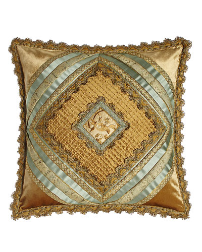 Palazzo Como Diamond-Center Pillow, 20