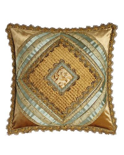 Palazzo Como Diamond-Center Pillow, 20
