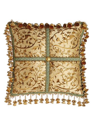 Palazzo Como Embroidered Silk Pillow, 14