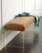 Wallis Leather Bench