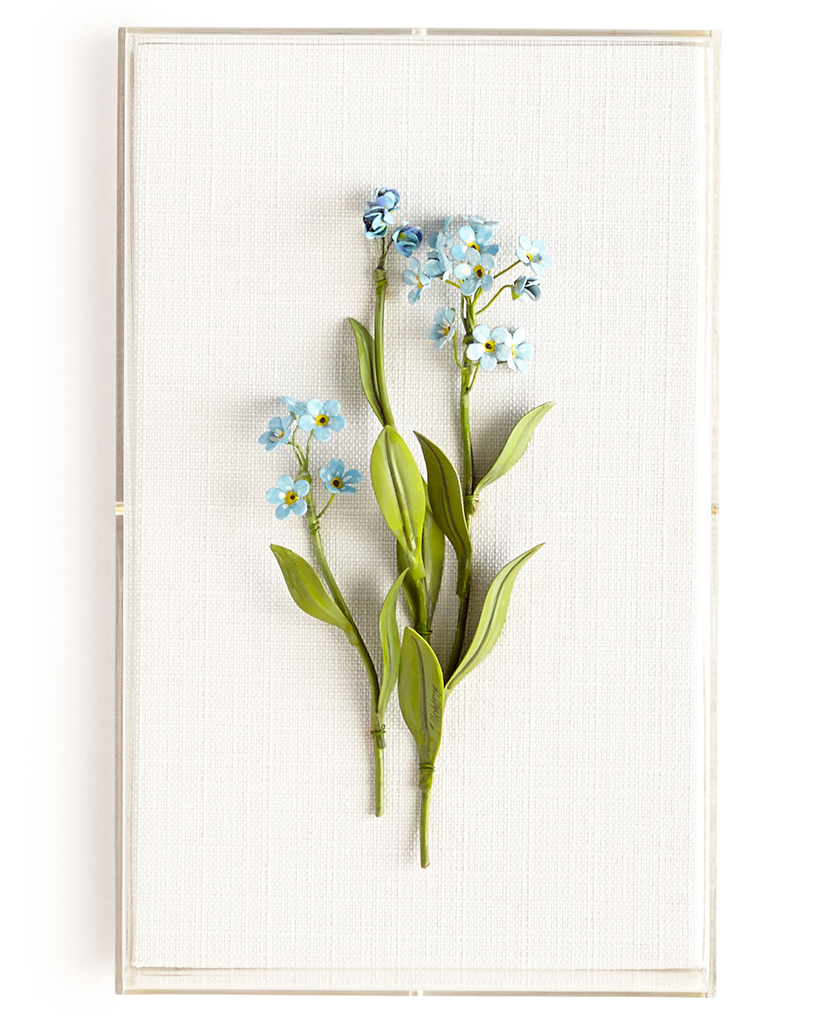 Tommy Mitchell Clothing ORIGINAL PAINTED FORGET-ME-NOT STUDY